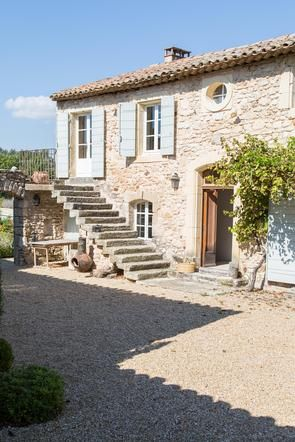 La Piboule, Provence, France - courtyard