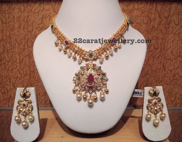 Pachi Necklace Antique Earrings - Jewellery Designs