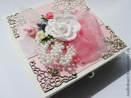 Коробочка для подарка Жемчужный лист - коробочка,шкатулка,коробочка для денег