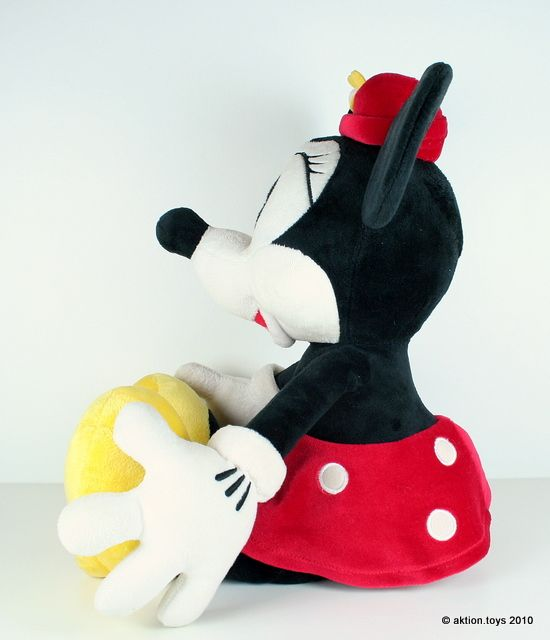 Plush Mickey Mouse Sitting Side View Minnie Mouse