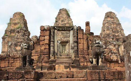 East Mebon in Angkor, Siem Reap Cambodia  Date: 952 AD