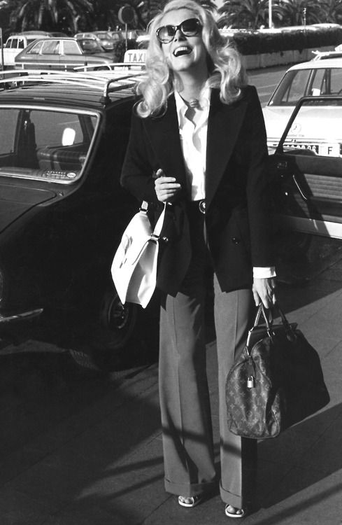 Catherine Deneuve, a timeless beauty, every single piece is perfection~ hair, sunglasses, shirt, jacket ...