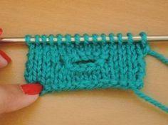 knoopsgaten breien, tutorial, Nederlands, #breien, #breipatroon