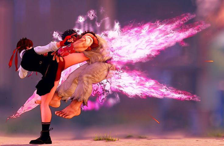 Street Fighter V  - Ryu vs Sakura