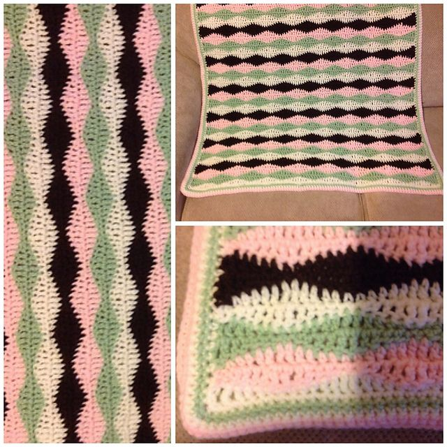 250 best crochet baby blankets 7 images on pinterest knitted ravelry pekeapoomoms wavy baby blanky fandeluxe Images