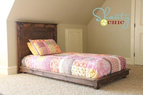 diy twin headboard: Twin Platform, Diy Furniture, Kids Room, Diy Platform Bed, Bed Frame, Diy Project, Platform Beds