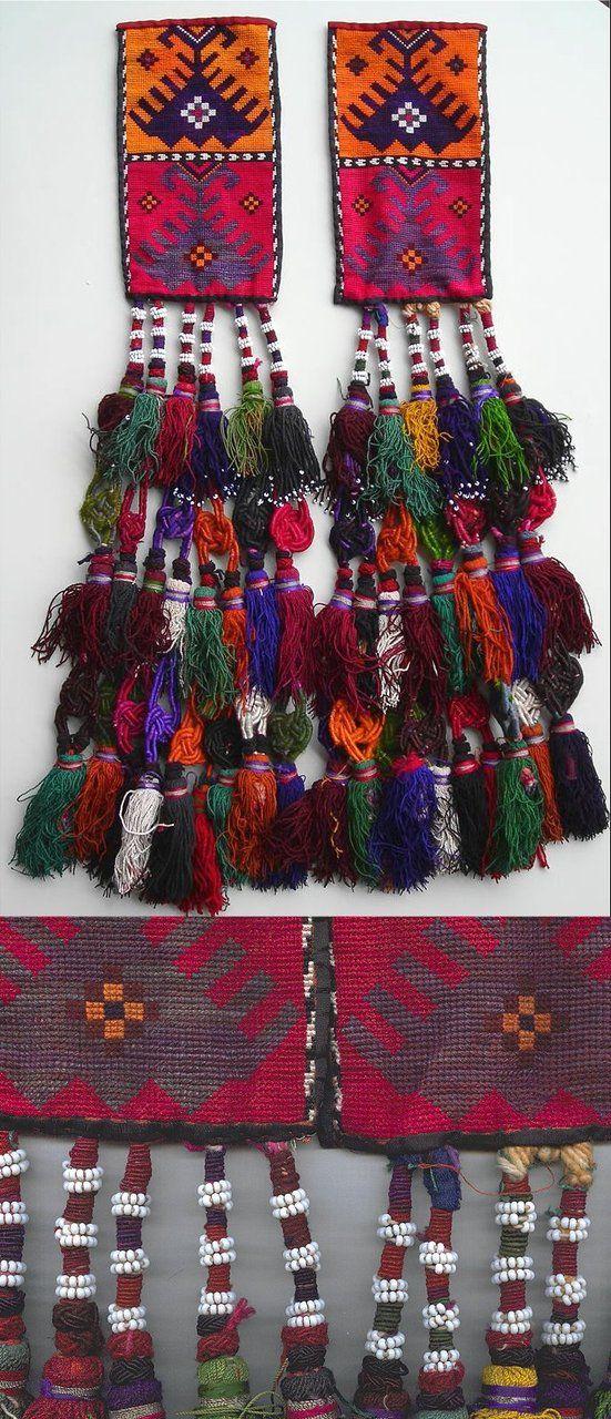 Uzbek textile with tassels