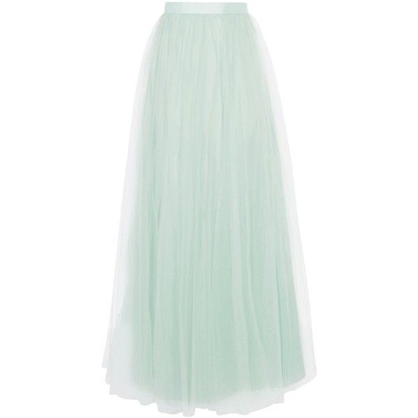 Coast Tulle Maxi Skirt ($135) ❤ liked on Polyvore featuring skirts, mint, women, long tulle skirt, sheer overlay maxi skirt, green tulle skirt, mint maxi skirt and long skirts
