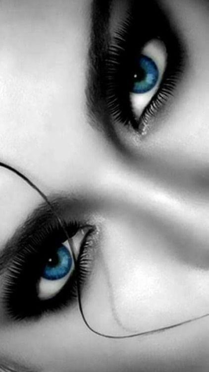 Pin De Maria Del En Fotos Blanco Y Negro Color Blue Eyed Girls Y