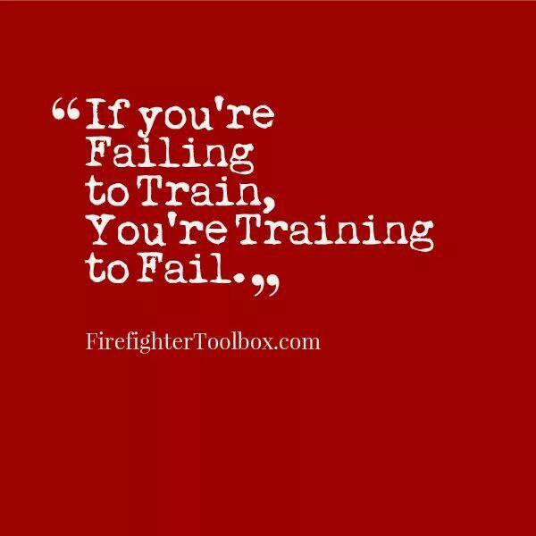 Training...always a must!