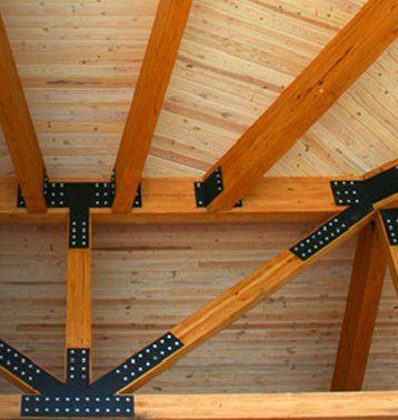 Glulam timber wood roof truss Boozer laminated beam company