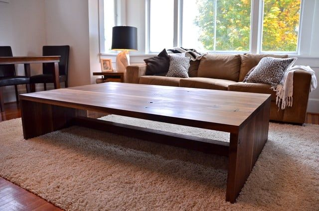 39 Large Coffee Tables For Your Spacious Living Room Coffee Table Farmhouse Modern Wood Coffee Table Wood Coffee Table Living Room