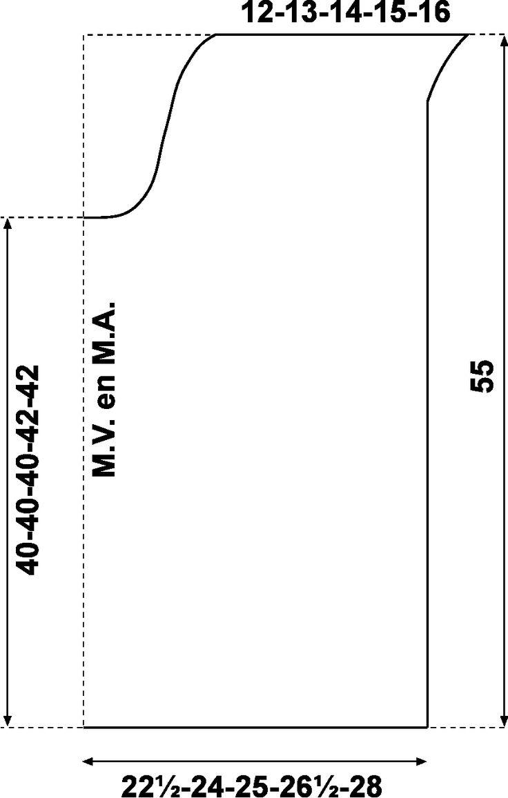 schema rug- en voorpand
