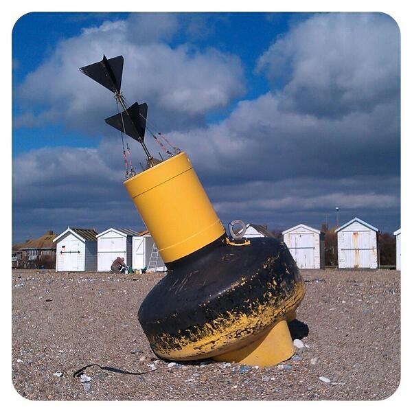 Beached buoy on the beach at Goring-by-sea. Monday morning @Ivy Arch