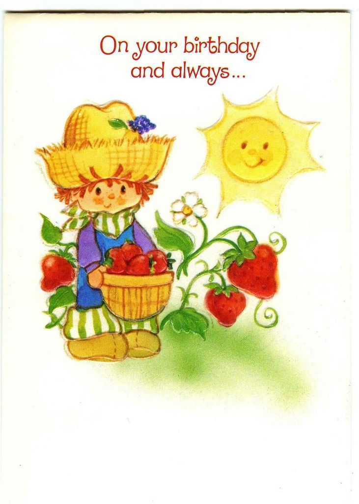 436 best Strawberry shortcake Vintage images – Strawberry Shortcake Birthday Card