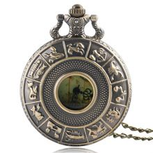Vintage Hollow Bronze Constellations Case With Australia Map Dial Necklace Pocket Watch Retro Clock Steampunk Relogio De Bolso //Price: $US $5.19 & Up To 18% Cashback //     #steampunktendencies