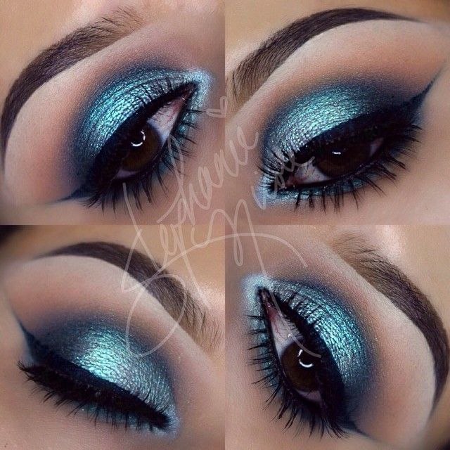 using @makeupgeektv and @sugarpill -Brows: @anastasiabeverlyhills Dipbrow in medium brown -Crease: Creme Brule & Latte -Outer Crease/V: Shark Bait and Peacock -Lid: @sugarpill Lumi eyeshadow -Liner: @sigmabeauty Standout Peacock liner