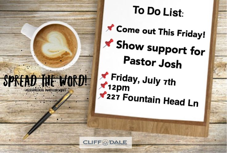 Pastor Josh will have the awesome privilege of praying for Mayor Nat Robertson this Friday, July 7th at 12pm at 227 Fountainhead Lane as he files for re-election status. Come out and show them some love and support! #SHARE #CliffdaleAlive #WhereLoveWorks