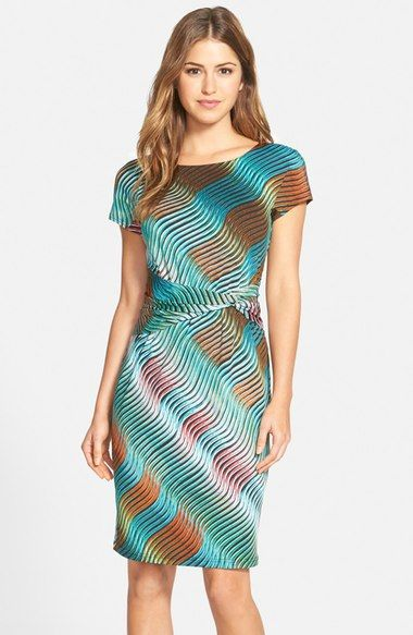 Ellen Tracy Print Jersey Sheath Dress (Regular & Petite) available at #Nordstrom