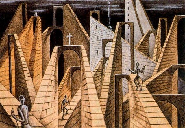 Muros y escaleras - Xul Solar (Oscar Agustin Alejandro Schulz Solari) - argentino (1887-1963)