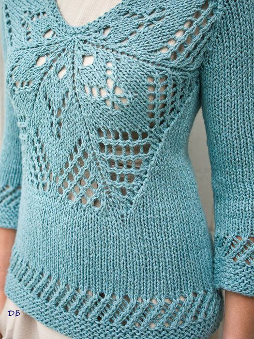 Knitted sweater, only inspiration. No pattern
