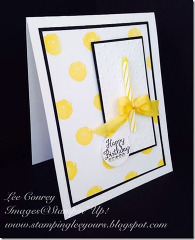 Lee Conrey Birthday Card with candle