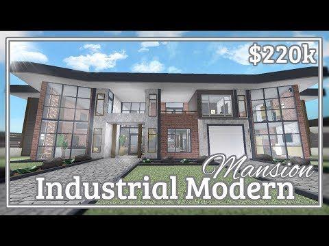 Bloxburg Industrial Modern Mansion Speed Build Youtube