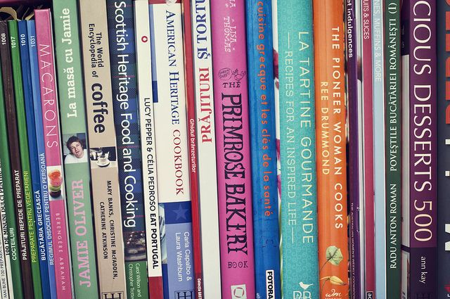 Half of my cooking book collection