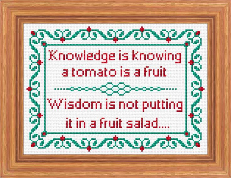 Knowledge and Wisdom Traditional Sampler, Cross Stitch PDF Pattern. £3.00, via Etsy.