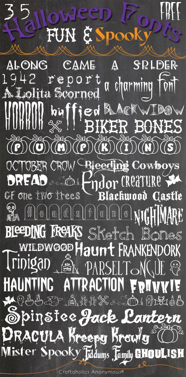 35 Fun & Free Halloween Fonts