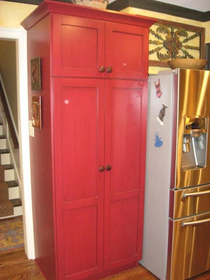 Built In Pantry Cabinet    Contrasting Color Furniture Looking | The  Kitchen | Pinterest