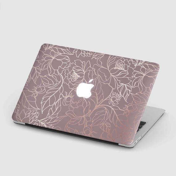 Macbook Case Gold Leaf Flower Macbook Air 13 Rose Macbook Pro Etsy In 2020 Macbook Case Rose Gold Macbook Air Rose Gold Macbook