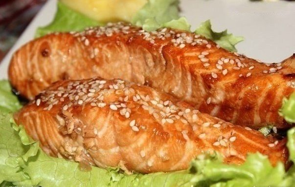awesome  Cemga with soy and honey sauce
