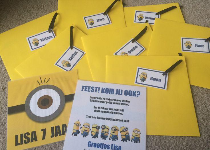Maak uitnodigingen met bijpassende gele enveloppen!