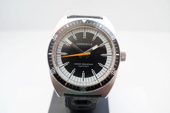 vintage mens bulova divers watches | eBay