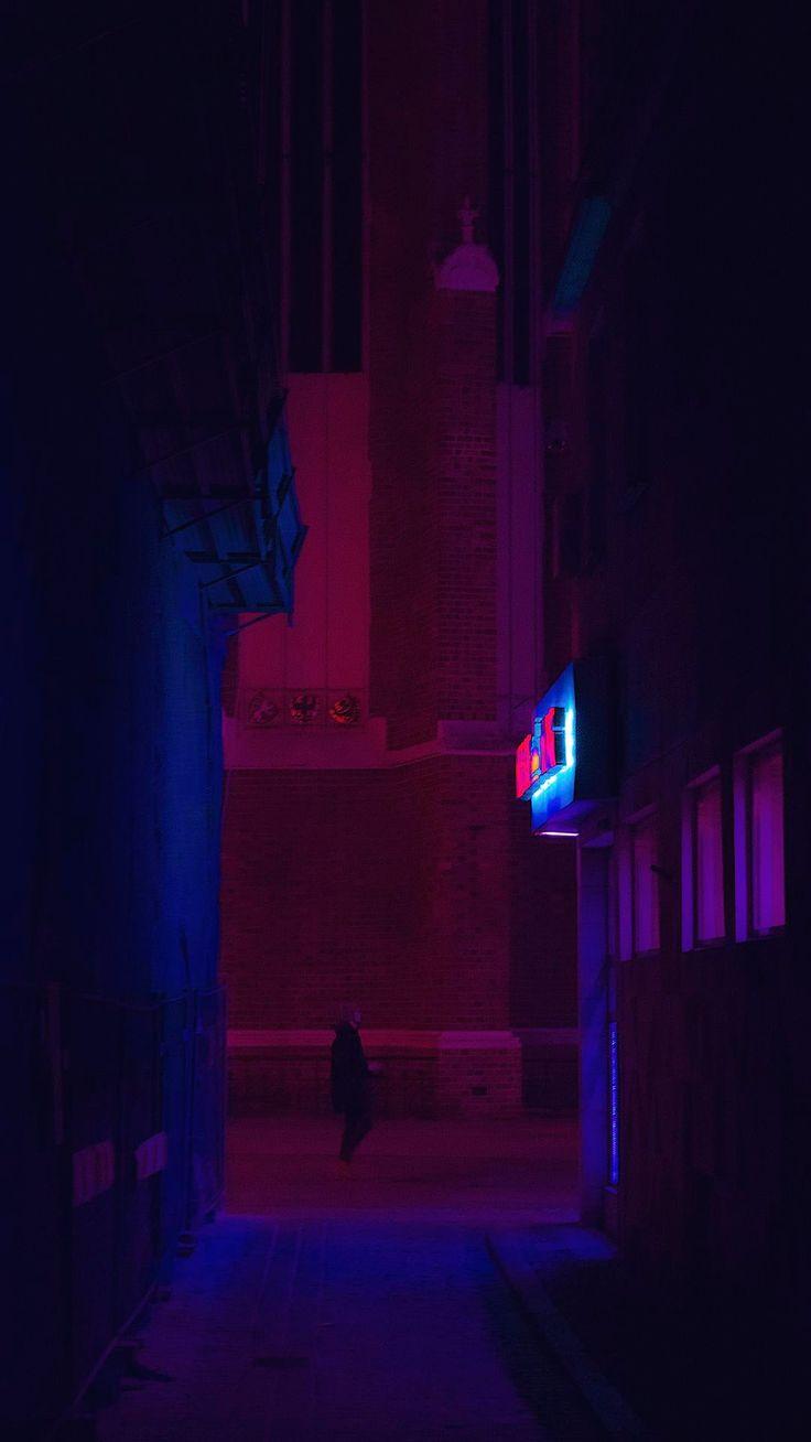 Neon Alley | Smart Phone Wallpapers  #4kphonewallpapersreddit #iphonewallpapersr…