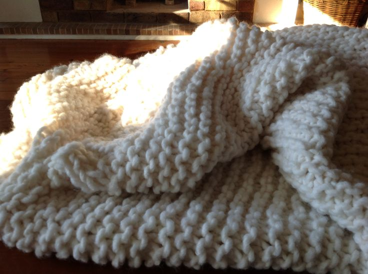 Patons Gigante Yarn Makes A Super Squishy Chunky Throw For My Sofa. Love  Garter Stitch