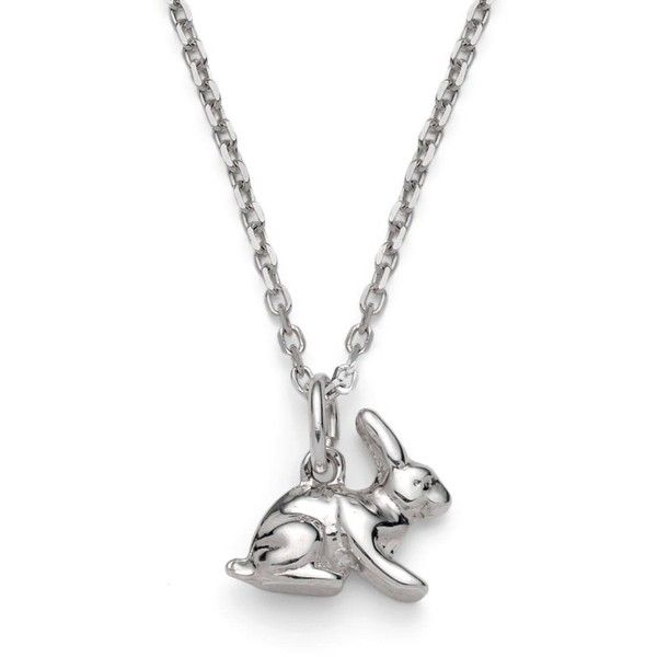 Harry Rocks - Bunny Necklace (67 CHF) ❤ liked on Polyvore featuring jewelry, necklaces, chain pendants, bunny charm, layered chain necklace, charm pendant necklace and bunny pendant necklace
