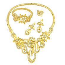 costume jewelry gold african big jewelry sets african bead jewelry set 18k wholesale african jewelry(China (Mainland))