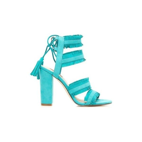 Guess FLECO1 SUE03 High heeled sandals Women Celeste Sandals ($110) ❤ liked on Polyvore featuring shoes, sandals, blue, women, guess sandals, blue sandals, guess shoes, heeled sandals and blue shoes