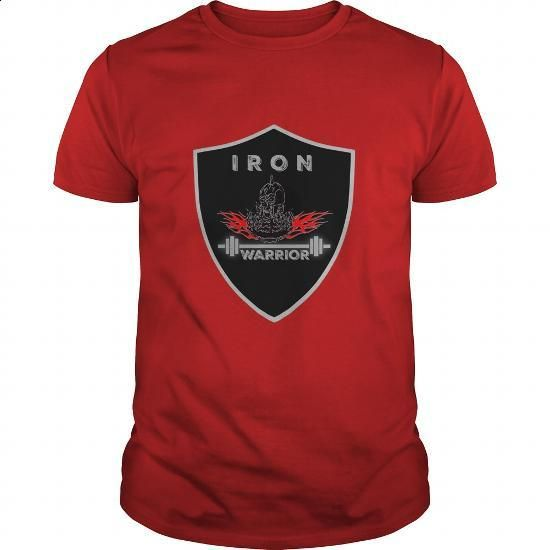 Iron Warrior Bodybuilding T Shirt - #men shirts #hooded sweatshirt dress. I WANT THIS => https://www.sunfrog.com/Fitness/Iron-Warrior-Bodybuilding-T-Shirt-Red-Guys.html?60505