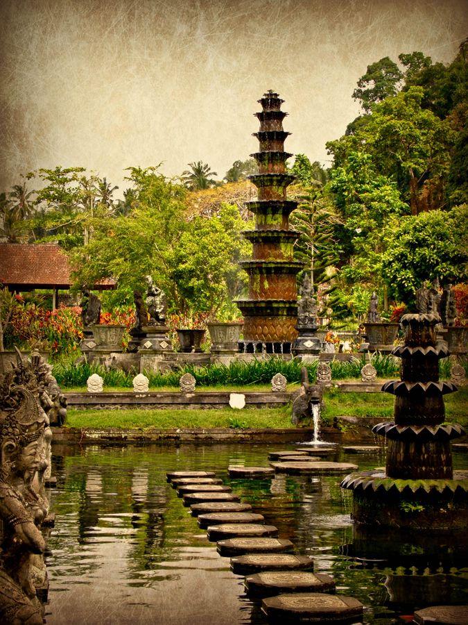 Taman Ujung Water Palace, Amlapura, Bali, Indonesia #travel #indonesia #bali