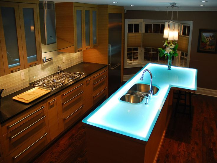 15 Best Images About Glowing Glass Countertops On