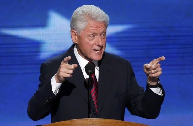 """Bill Clinton talks inequality in West Virginia, with barely a mention of the 2016 primary - =====They've spent 35 years telling people to hate government. I felt bad for 'em. In the first debate, it felt like they were taking a theology test in hatred of government, and Trump blew past 'em."""" -- Bill Clinton"""