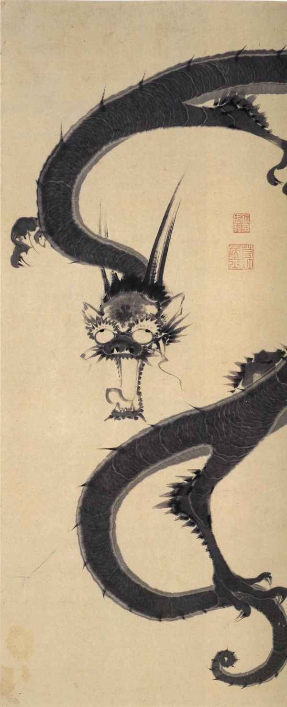Ito jakuchu(伊藤 若冲) , 雨龍図
