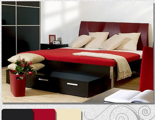 1000+ Ideas About Red Black Bedrooms On Pinterest