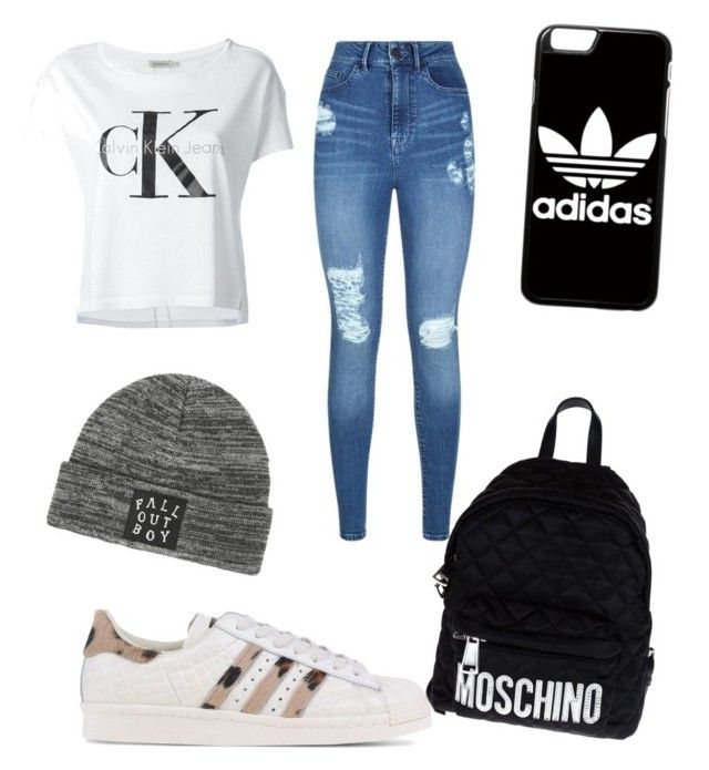 """Letní oblečení"" by jana-zy on Polyvore featuring adidas Originals, Calvin Klein Jeans, Lipsy, adidas and Moschino"