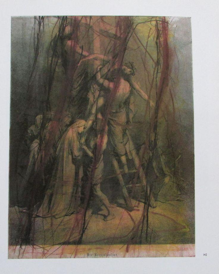 Arnulf Rainer DIE KREUZABNAHME Übermalung Kunstdruck Bibel art print | eBay