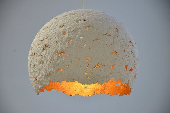 "Items similar to Handmade recycled paper lampshade  ""Egg"" any color you want on Etsy"