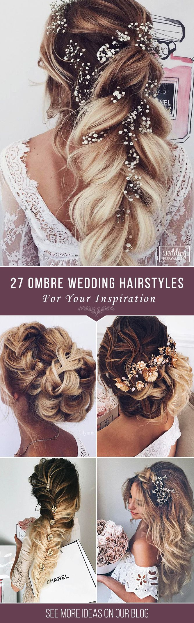27 Modish Ombre Wedding Hairstyles ❤ Ombre wedding hairstyles are on trend this year. Here are sizzling solutions for black, brown and blond hair. Technique looks good on long and short hair. See more: http://www.weddingforward.com/ombre-wedding-hairstyles/ #weddings #hairstyles